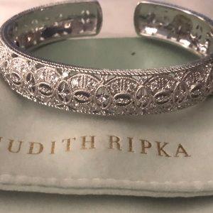 - NWT Judith Ripka Wide Sterling Silver Brac…